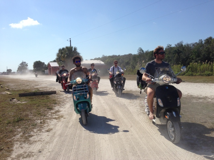 Taking the last possible dirt road heading into the Keys, Florida.