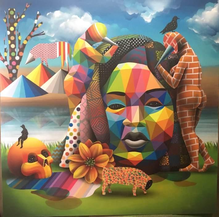 India esmalte sintetico sobre madera 180x180 2016
